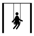 girl on the swing icon vector image