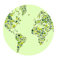 Green world made of icons vector image vector image