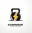gym power logo design idea vector image