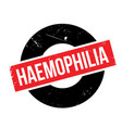 haemophilia rubber stamp vector image vector image