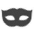 halftone dot privacy mask icon vector image vector image