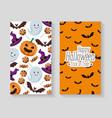 happy halloween set cards vector image