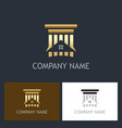 home building gold logo vector image vector image