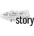 how to write a short story vector image vector image