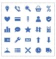 Icon set e-Commerce flat design shopping symbols vector image vector image