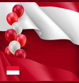 indonesian patriotic banner with space vector image vector image