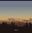 jakarta skyline with dans sky vector image vector image