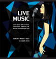 live music party advertising poster vector image vector image