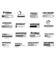 loading week bar business ui interface web vector image vector image