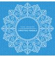 mandala with christmas decorative elements vector image
