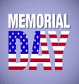 memorial day background vector image vector image