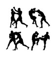 mma fighters vector image vector image