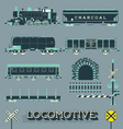 Model Train Collection vector image