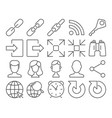 modern line style icons user interface set 4 vector image vector image