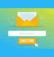 modern pop-up subscribe form for your website and vector image vector image
