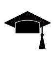 Mortar Board or Graduation Cap vector image vector image