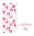 mothers day card with beautiful flowers vector image vector image