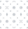 no icons pattern seamless white background vector image vector image