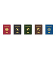 passport cover leather cover citizen vector image