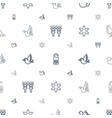 peace icons pattern seamless white background vector image vector image