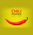 realistic red hot natural chili pepper vector image