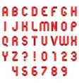 Red Folded Paper Font vector image