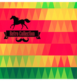 retro supply hipster background Retro styled vector image vector image