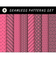 Romantic and love seamless patterns vector image vector image