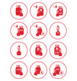 Set of camping stove and gas bottle icons