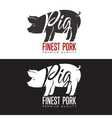 set of logos with a pig vector image vector image