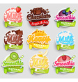 Set of nine labels splash vector image vector image