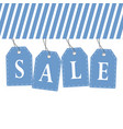tag sale in blue color design vector image vector image