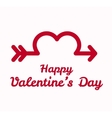Valentines day greeting card design vector image