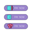 Web payment button vector image