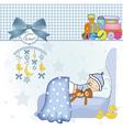 welcome new baby boy vector image vector image