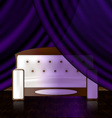 white sofa in the violet room vector image vector image
