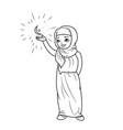arabic girl vector image