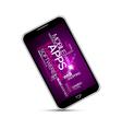 Smartphones application vector image