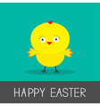 Easter chicken Flat design style Card vector image