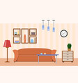 living room with furniture interior design vector image