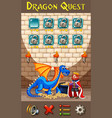 a dragon game template vector image