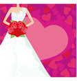 Abstract Beautiful bride card vector image vector image