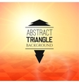 Abstract yellow sunset with red triangle field vector image vector image