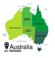 Australia map vector image vector image