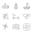 Baby thin line related icon set vector image vector image