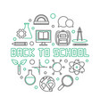 back to school round outline simple vector image vector image