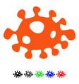 bacteria flat icon vector image vector image