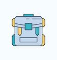 bag camping zipper hiking luggage flat icon green vector image