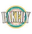 Bakery Label design vector image vector image