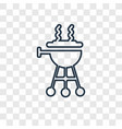 bbq concept linear icon isolated on transparent vector image